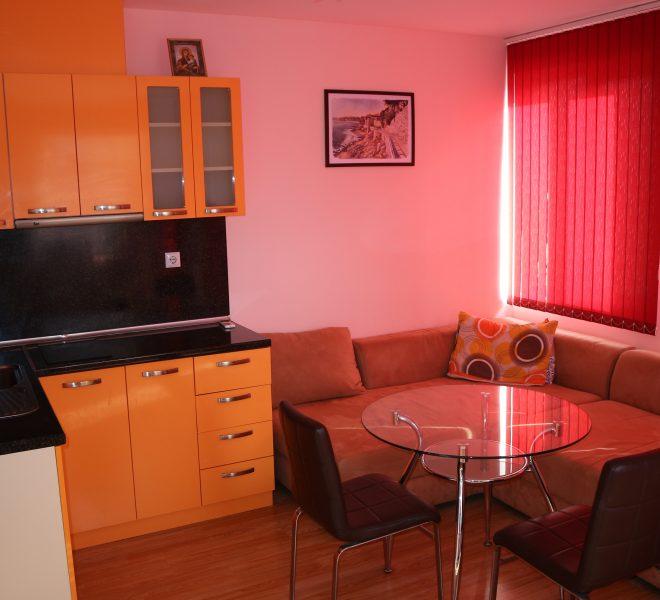 Двустаен апартамент в Несебър всекидневна с кухня