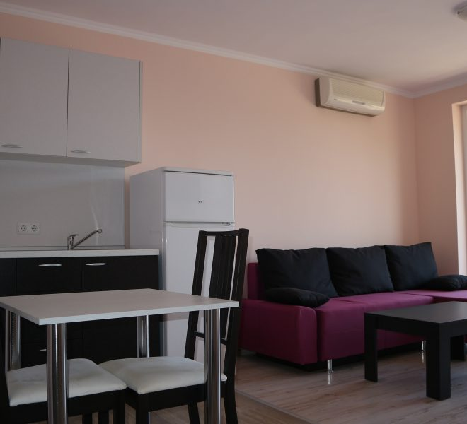 Двустаен апартамент в Слънчев Бряг всекидневна